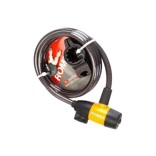 Zamknięcie spiralne na klucz 87911 10x150cm czarno-pomrańcz. marki Romet
