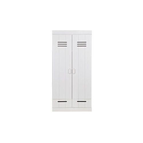 Woood :: szafa na ubrania connect dwudrzwiona z szufladami - 2-drzwiowa z szufladami