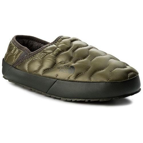 Kapcie THE NORTH FACE - Thermoball Traction Mule IV T9331EZFP Shiny Burnt Olive Green/Black Ink Green, kolor zielony