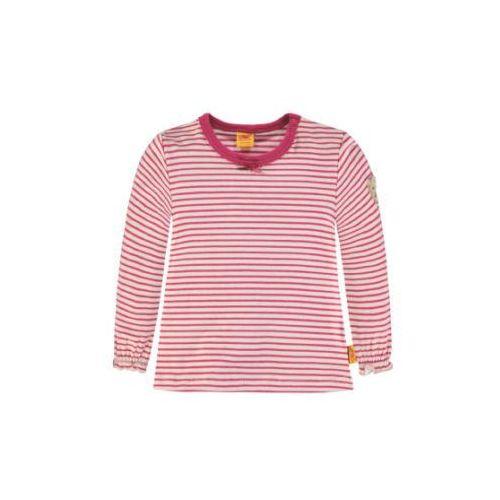 Steiff collection sweet teddy bluzka z długim rękawem vivacious pink (4056178534966)