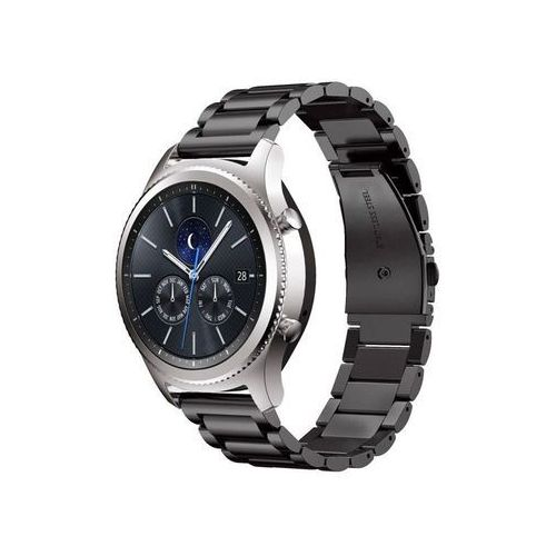 Bransoleta Stainless Steel pasek do Samsung Gear S3 czarny - Czarny, kolor czarny