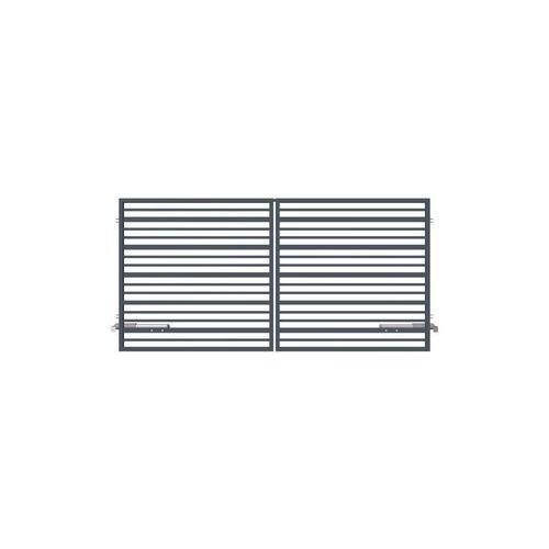 Brama dwuskrzydłowa RUBIN 300 x 150 cm z automatem POLARGOS