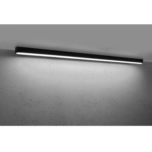 Sollux lighting Plafon pinne 1450 czarna, 4000k, 48w (5903282715509)
