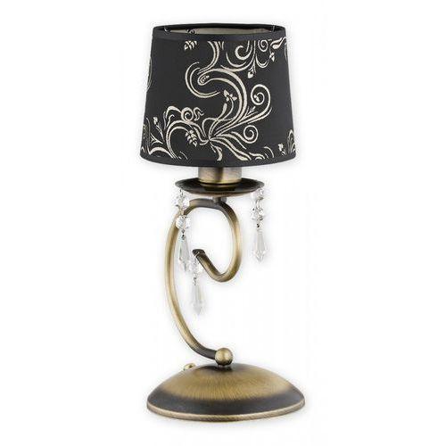 Lemir Barsa O2478 L1 PAT lampka stołowa 1x60W E27 patyna / czarny (5902082866565)