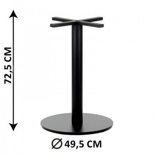 Podstawa stolika SH-5001-7/B, fi 49,5 cm, wysokość 72,5 cm (stelaż stolika), kolor czarny