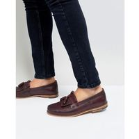Silver Street Tassel Loafer In Burgundy Leather - Red