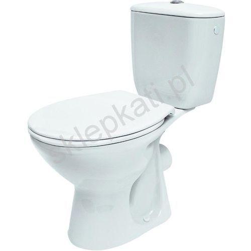 Cersanit president kompakt wc z odpływem poziomym z deską k08-038 (5907720636173)