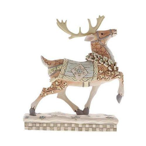 Renifer zimowa przygoda czeka adventure awaits (white woodland reindeer) 6001412 marki Jim shore