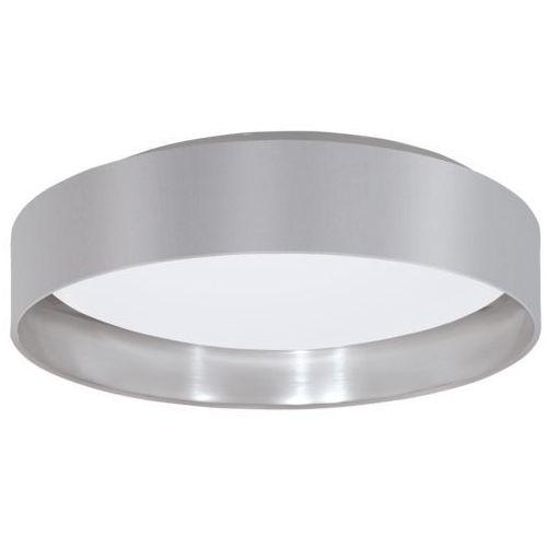 Plafon LAMPA sufitowa MASERLO 31623 Eglo okrągła OPRAWA LED 18W szara srebrna, 31623