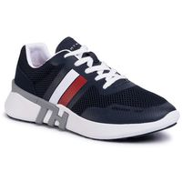 Sneakersy TOMMY HILFIGER - Lightweight Corporate Th Runner FM0FM02661 Desert Sky DW5, kolor niebieski