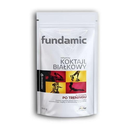 FUNDAMIC Koktail białkowy o smaku truskawkowym 300g+FUNDAMIC Kok. biał. waniliowy 30g