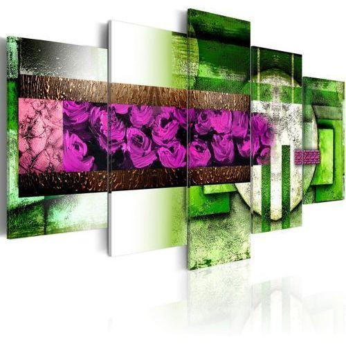 Obraz na płótnie Canvas - Ogród-abstrakcja 100 szer. 50 wys.