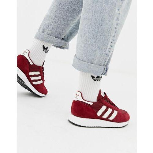 c5642751 adidas Originals burgundy and white Fore... Producent Adidas; Kolor czerwony