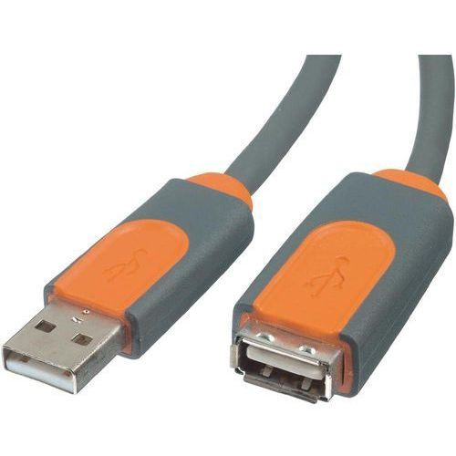 Przedłużacz USB 2.0 Belkin CU1100cp1.8M, [1x złącze męskie USB 2.0 A - 1x złącze żeńskie USB 2.0 A], 1.8 m, szary