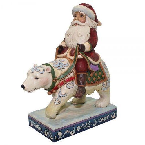 Mikołaj z białym niedźwiedziem bear with me (santa riding polar bear) 4058784 figurka ozdoba świąteczna marki Jim shore
