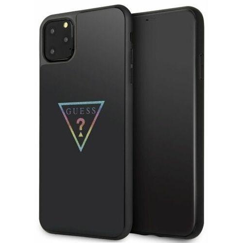 Guess Etui guhcn65trmlbk iphone 11 pro max czarny/black hard case triangle glitter
