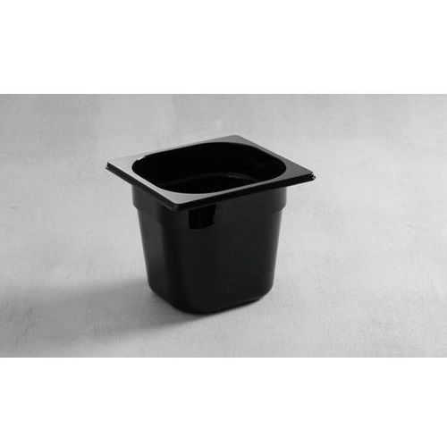 Pojemnik zpoliwęglanu GN 1/6 65 mm, czarny