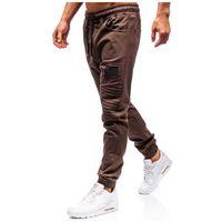 Bolf Spodnie joggery męskie brązowe 0829