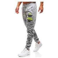 J.style Spodnie męskie dresowe joggery szare denley kk533