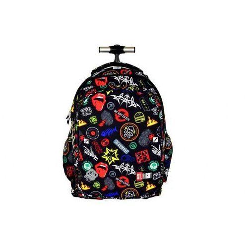 St.-majewski Plecak młodzieżowy na kółkach badges tb-01 (5903235612893)