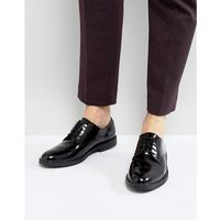leather hi-shine lace up derby shoes - black marki Zign
