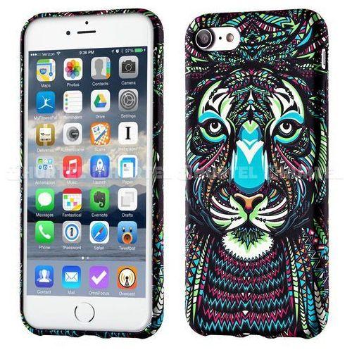 WOZINSKY fluorescencyjny pokrowiec świecący w ciemności Wild Case iPhone SE 5S 5 tygrys czarny - tygrys (Futerał telefoniczny)