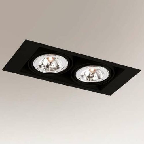 Shilo Wpuszczana lampa sufitowa muko 7353 podtynkowa oprawa do łazienki prostokątna wpust czarny