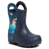 Kalosze CROCS - Crocsfl Shark Ptch Rain Boot B 206174 Navy, kolor niebieski