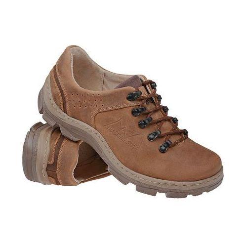 Kornecki Półbuty buty trekkingowe 1392 koniakowe - brązowy ||koniakowy