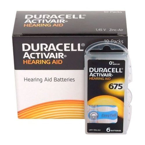 Duracell 60 x baterie do aparatów słuchowych activair 675 mf