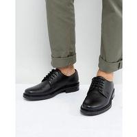 derby shoes in black pebble leather - black marki Dead vintage