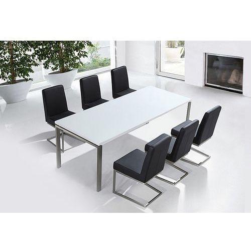 Beliani Zestaw mebli stal szlachetna - stół 220 krzesła do wyboru - arctic ii (7081451634788)
