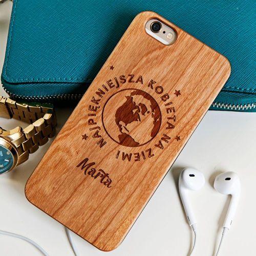 Najpiękniejsza kobieta - Drewniana Obudowa - Orzech - iPhone 6+/6s+ z kategorii Obudowy do telefonów