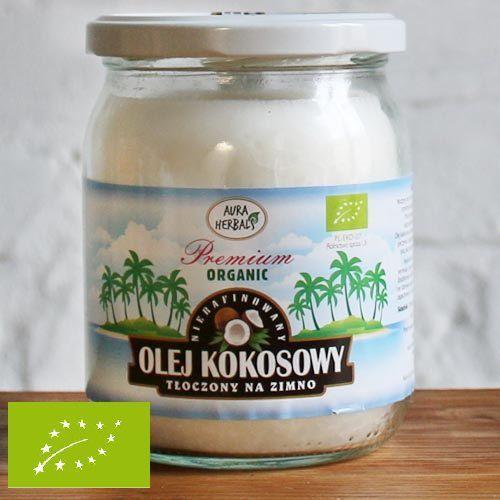 Aura herbals Bio olej kokosowy 450ml - tłoczony na zimno