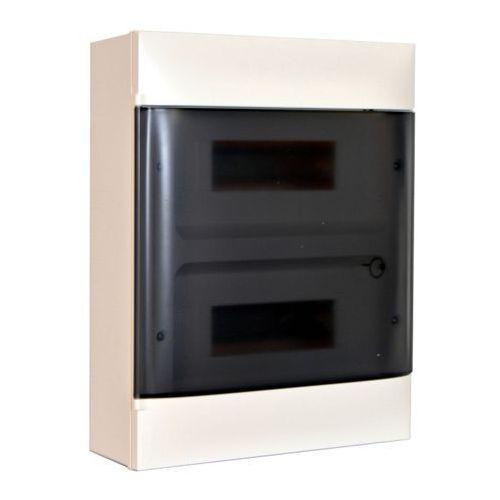 Rozdzielnica naścienna 2 x 12 modułów drzwi dymne marki Legrand