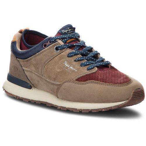 Sneakersy - btn treck lth pack pms30473 stag 884, Pepe jeans, 40-46
