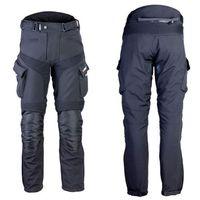 Męskie spodnie motocyklowe softshell W-TEC Erkalis GS-1729, Czarny, XXL
