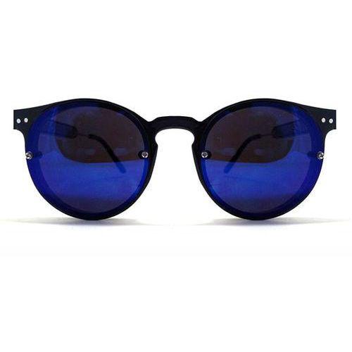 Spitfire Okulary słoneczne post punk black/dark blue mirror