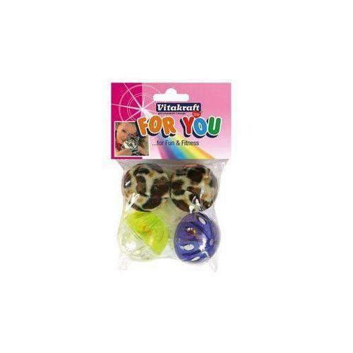 for you - zabawka dla kota piłka pantera, plastik 4szt. marki Vitakraft