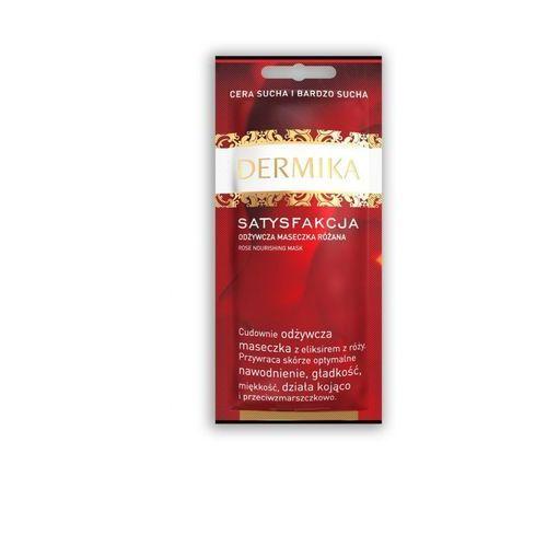 Dermika Satisfaction maseczka odżywcza do skóry suchej i bardzo suchej (Rose) 10 ml