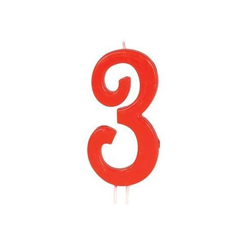 Świeczka cyferka 3 - 1 szt. marki Guirca