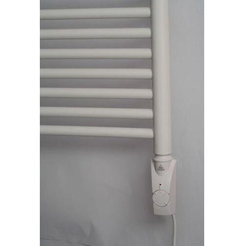 Grzałka elektryczna z termostatem – 300w, biała, kwadratowa marki Thomson heating