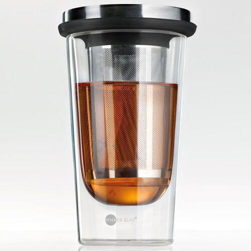 Kubek izolowany ze stalowym zaparzaczem do herbaty primo jenaer glas (sh-116576-1)