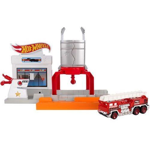 Hot wheels  rozkładane zestawy: pożar na stacji