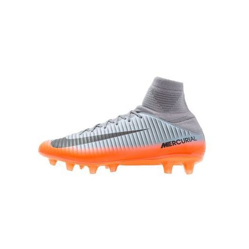 Nike Performance MERCURIAL VELCE 3 DF CR7 AGPRO Korki Lanki cool grey/metallic hematite/wolf grey/total crimson