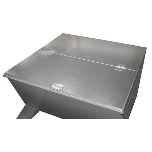 Pokrywa składana, ocynkowana, 2-częściowa, dla wersji 0,65 / 0,7 m³. 2-częściowa