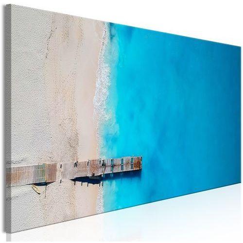 Obraz - morze i pomost (1-częściowy) wąski niebieski marki Artgeist