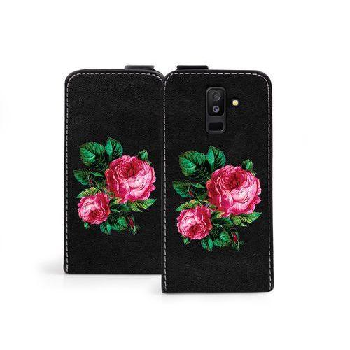 Samsung Galaxy A6 Plus (2018) - etui na telefon Flip Fantastic - czerwone róże