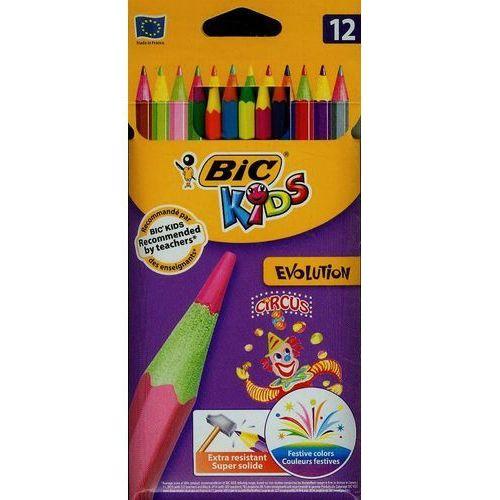 Kredki ołówkowe BiC Kids Evolution Circus Valet pudełko 12 szt.