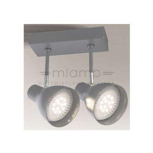 Plafon LAMPA sufitowa MIMA 2256/GU10/SZ Shilo metalowa OPRAWA reflektorowa SPOT regulowany szary